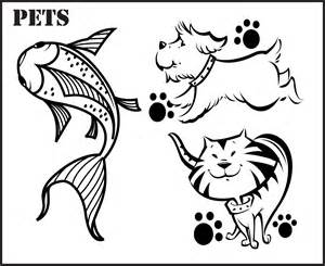 pet coloring pages all about pets special section