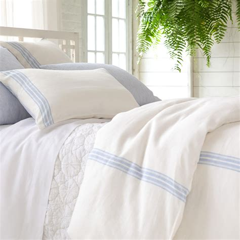 Pine Cone Comforter District17 Varana Linen French Blue Duvet Cover Duvet