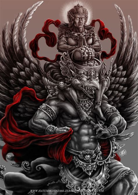 garuda vishnu krodha 187 by hatemachine666 artworks