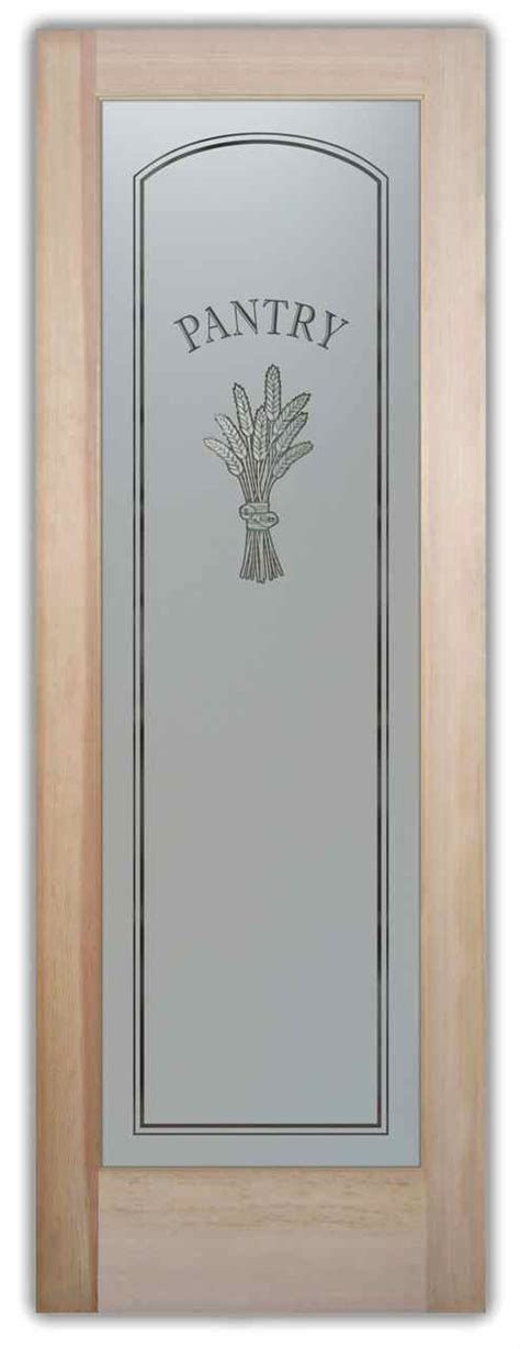 Glass Etched Pantry Door by Country Style Pantry Doors Sans Soucie Glass