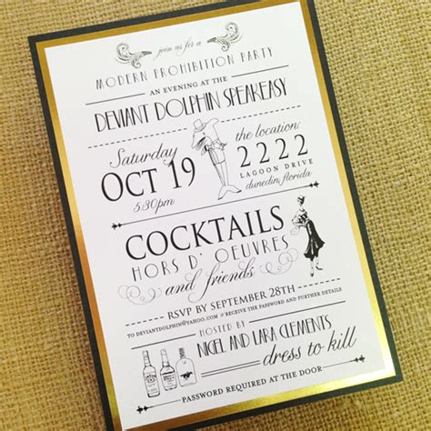 Speakeasy Party Invitations Oxsvitation Com Speakeasy Invitation Template Free