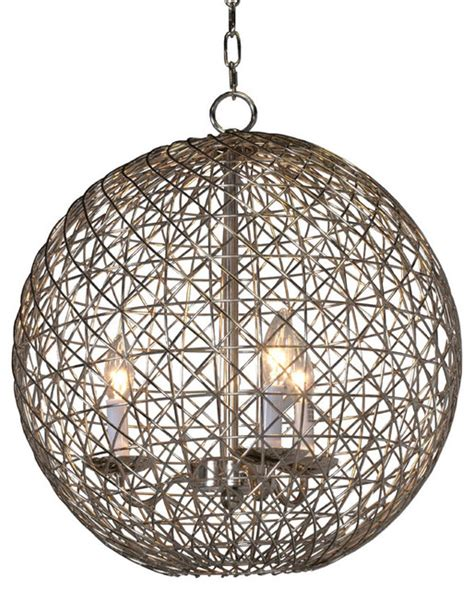 Worlds Away Chandelier Worlds Away Verona Pendant Chandelier Small Nickel Contemporary Chandeliers