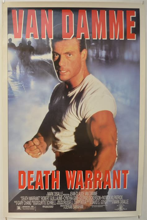 glorious year 1990 death warrant van damme vs sandman the death warrant original cinema movie poster from