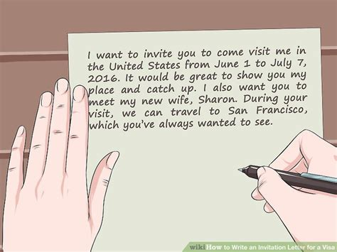 how to write invitation letter how to write an invitation letter for a visa 14 steps