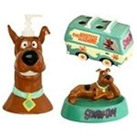 scooby doo bathroom set wb hanna barbera scooby doo 3 pc ceramic bath set new