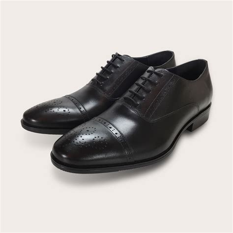 Shoes Leather Shoes Black oxford brogues black s leather shoes buy shoes