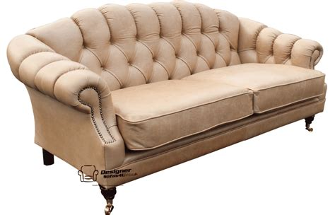 siam parchment sofa loveseat chesterfield victoria 3 seater sofa settee old english