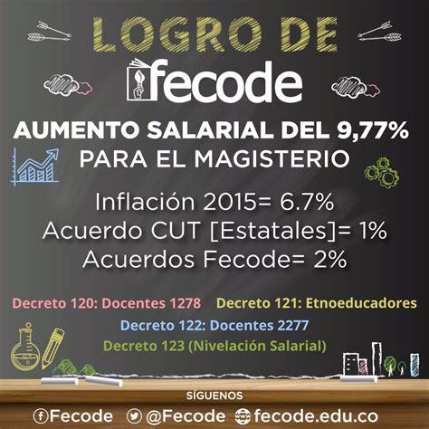 salario magisterio colombiano para 2016 decretos salariales y bonificaci 211 n nivelaci 211 n del