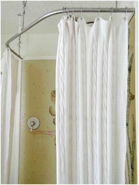 how to make a curtain into a shower curtain turn a throw blanket into a shower curtain ikea hackers