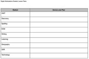 technology integration lesson plan template how to set up digital workstations scholastic