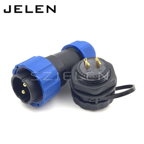sd20tp zm 2 pin waterproof connector ip68 led power