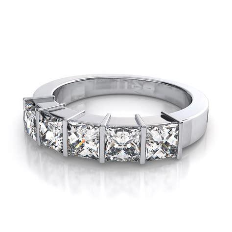 4mm five princess cut wedding or anniversary