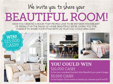 Competitions To Win Money Australia - home beautiful magazine win up to 10 000 cash australian competitions