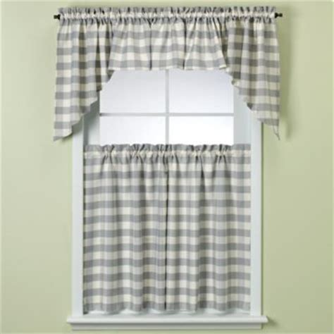 blue and white plaid curtains rowan blue plaid window curtain tiers contemporary