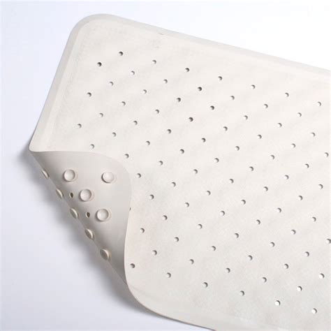 Rubber Bath Mat with anti fungal coating   anti slip safety soft white