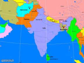 Asia Political Map by South Asia Political Map A Learning Family