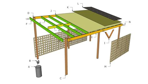 carport blueprints wooden carport plans howtospecialist how to build