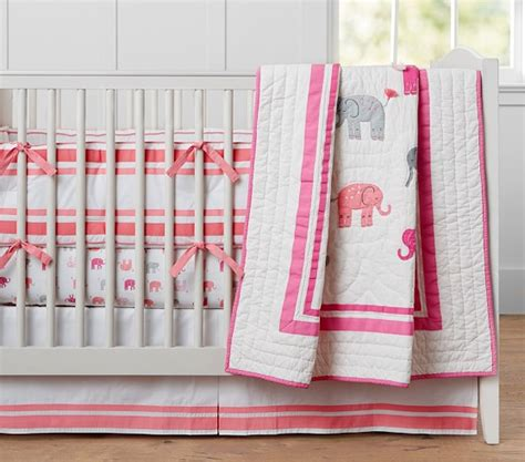 elephant baby girl bedding harper elephant baby bedding pottery barn kids