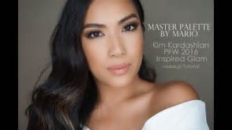 kim kardashian glam makeup master palette by mario tutorial kim kardashian pfw 2016