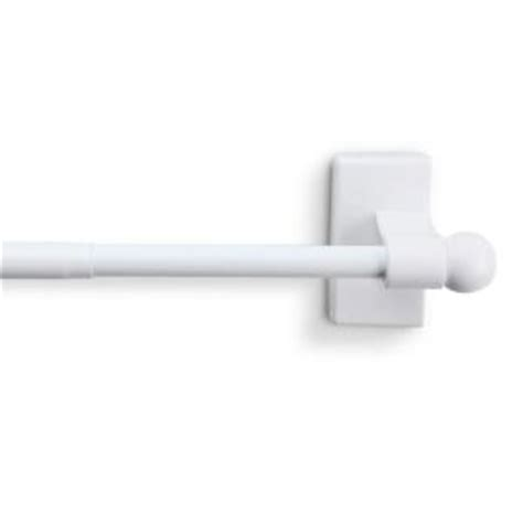magnetic curtain rods home depot rod desyne 17 in 30 in telescoping magnetic curtain