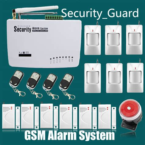 free shipping wireless gsm alarm system for home security