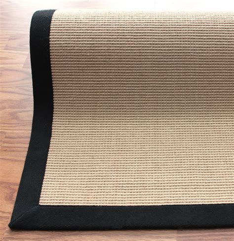 District17 Natura Jute Rug With Black Border Bordered Jute Rug 7