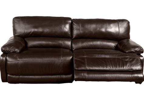 reclining sofas leather home auburn brown leather reclining