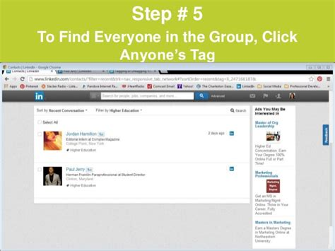 How To Find On Tagged Social Media Linkedin How To Tag Contacts Into Groups
