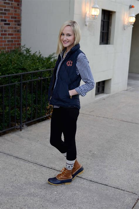 Ll Bean Giveaway - l l bean boots monogrammed puffer vests and his socks kelly in the city