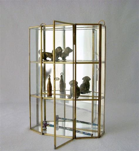 brass and glass display cabinet small glass curio cabinet display small glass brass