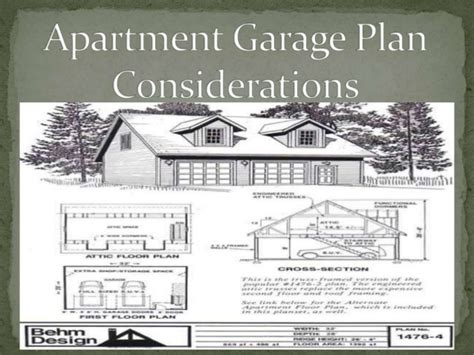 Apartment Design Considerations | apartment garage plans considerations by behmdesign