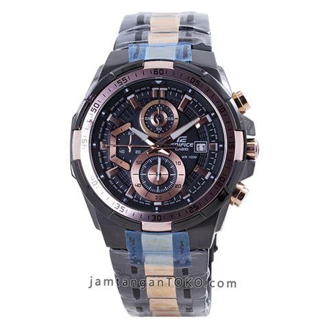Jam Tangan Casio Edifice Brown Combi Black Tali Kulit harga sarap jam tangan edifice efr 539bkg 1av black gold