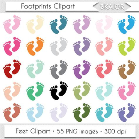 footprint clipart baby clipart footprints clipart baby shower clipart
