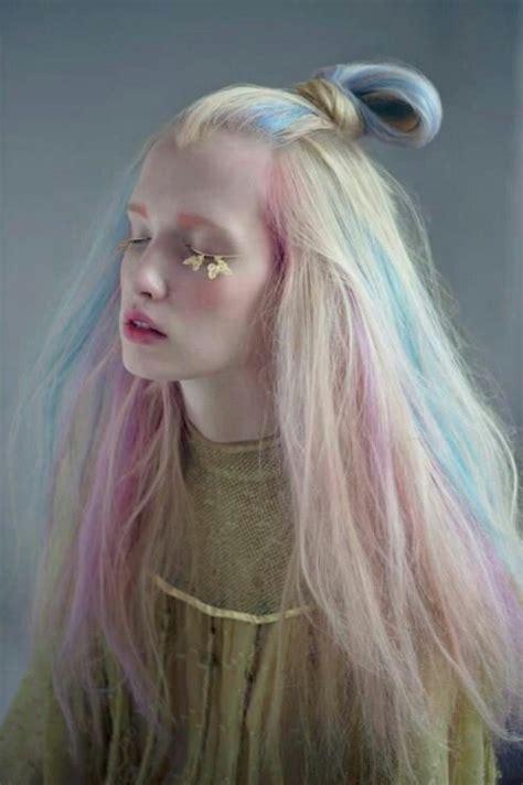 pastel rainbow hair pastel rainbow hair hairstyle pinterest