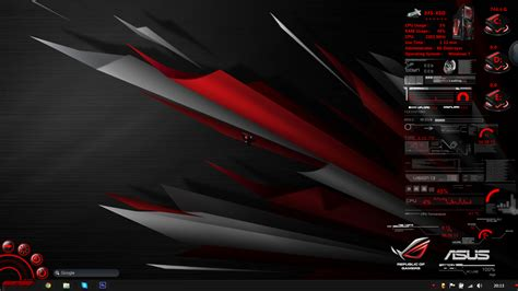 download theme windows 7 republic of gamers asus rog rainmeter by jamezzz92 on deviantart