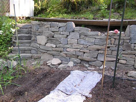 pare drystack stone garden retaining wall cedar