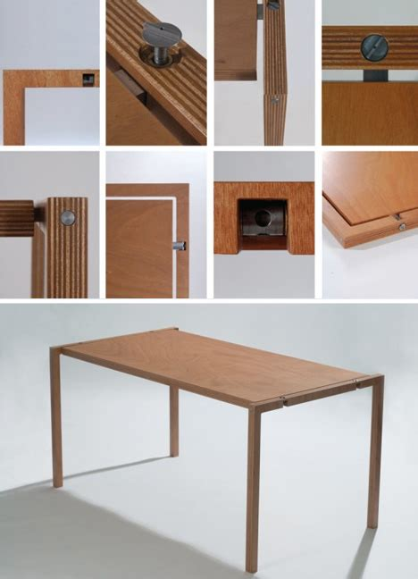 Collapsible Dresser by Folding Wood Furniture Elegantly Slim Table Chair Pair