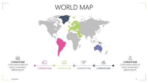 World Map Free Powerpoint Template World Map Powerpoint Template Free