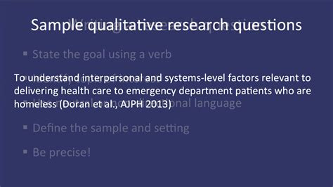 Statistical Research Paper Health Care Premiums by Fundamentals Of Qualitative Research Methods Developing A