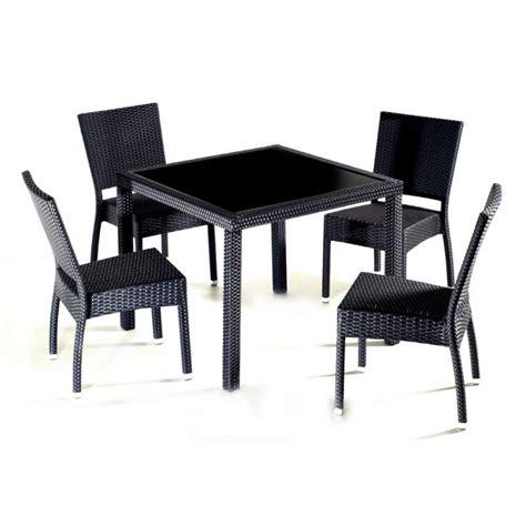 chaises salon de jardin salon en r 233 sine tress 233 e au meilleur prix