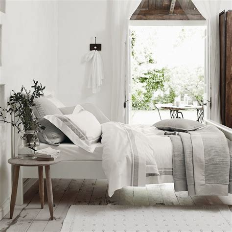 brompton bed linen collection silver from the white