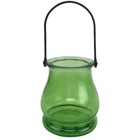 Hanging Glass Vases by Hanging Glass Candle Vase 3 75 Quot Green Apple