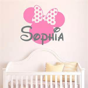 personalized baby name wall decor wall decal enchanting minnie mouse decals for walls