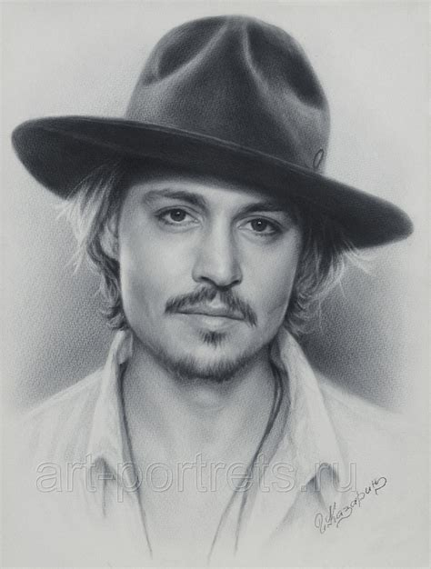 how to draw a portrait johnny depp portrait by drawing portraits on deviantart