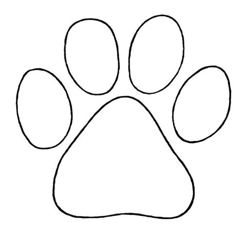 paw print template puppy paw to trace