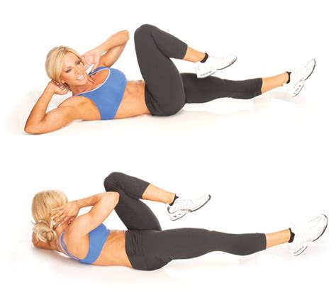bicycle crunches   core exercise   ace gym gurus