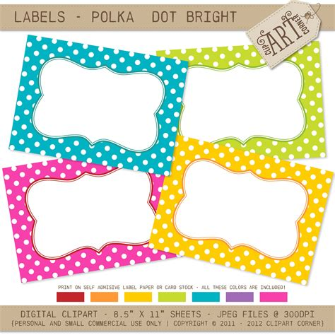 editable label templates 7 best images of polka dot label templates printable