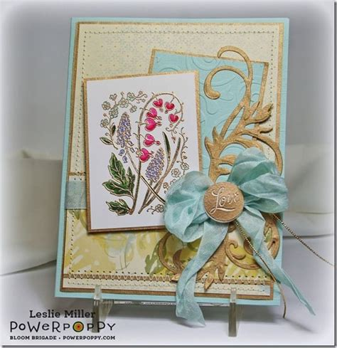 beautiful gifts of springtime leslie miller springtime with gold embossing
