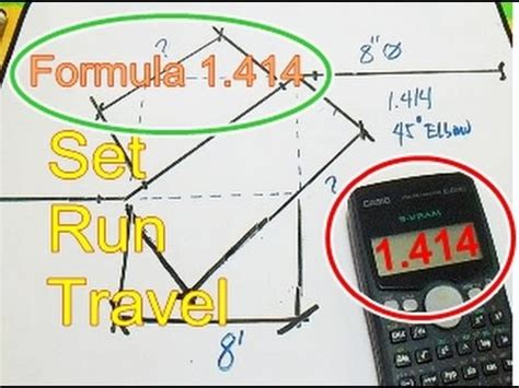 Plumbing Formula For A 45 Degree Angle by Piping Lengths Of Sides Set Run Travel Angle And Formula