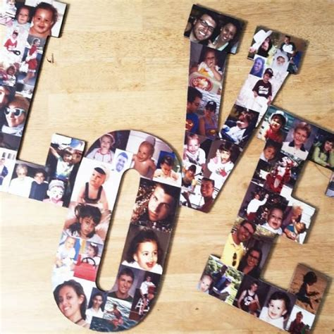 Handmade Photo Collage - custom photo collage letter photo collage wood letters